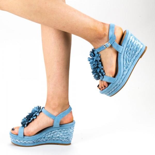 Sandale Dama cu Toc si Platforma WH14 Silver Mei