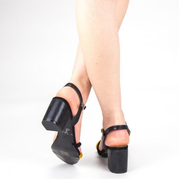 Sandale Dama cu Toc CS53 Yellow Mei