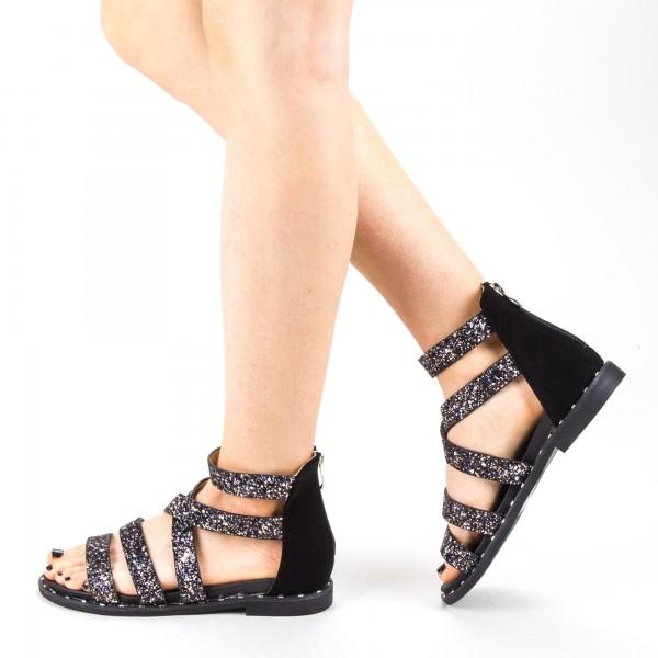 Sandale Dama cu Toc QZL256 Gold Mei