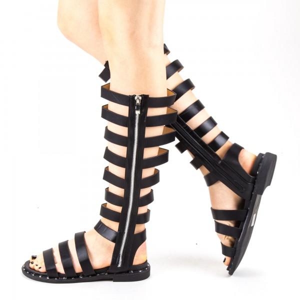Sandale Dama cu Toc QZL237 Black Mei