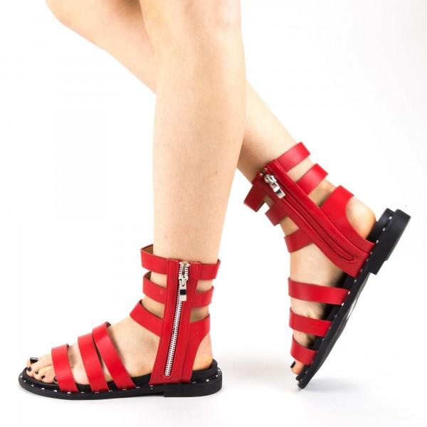 Sandale Dama cu Toc QZL236 Red Mei