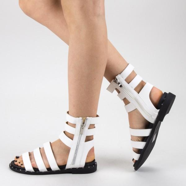 Sandale Dama cu Toc QZL236 White Mei