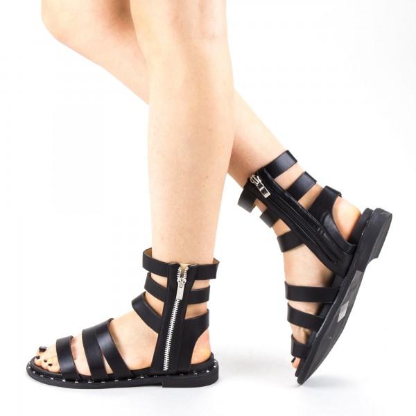 Sandale Dama cu Toc QZL236 Black Mei