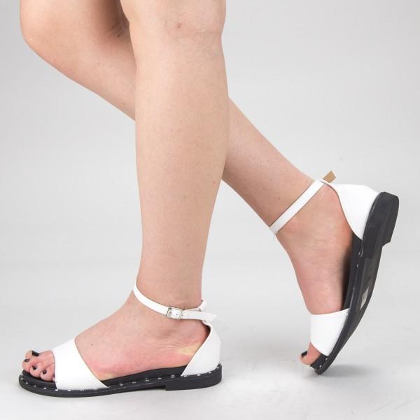 Sandale Dama cu Toc QZL233 White Mei