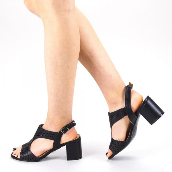 Sandale Dama cu Toc CS61 Black Mei