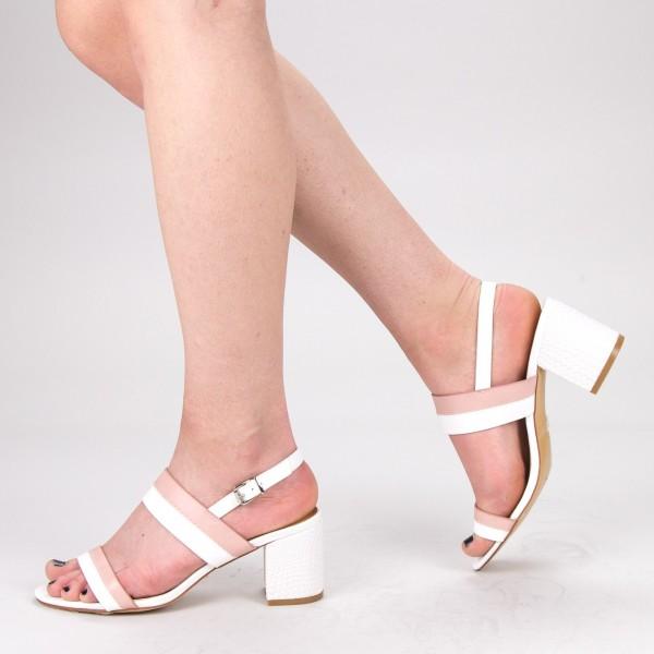 Sandale Dama cu Toc CS60 White Mei