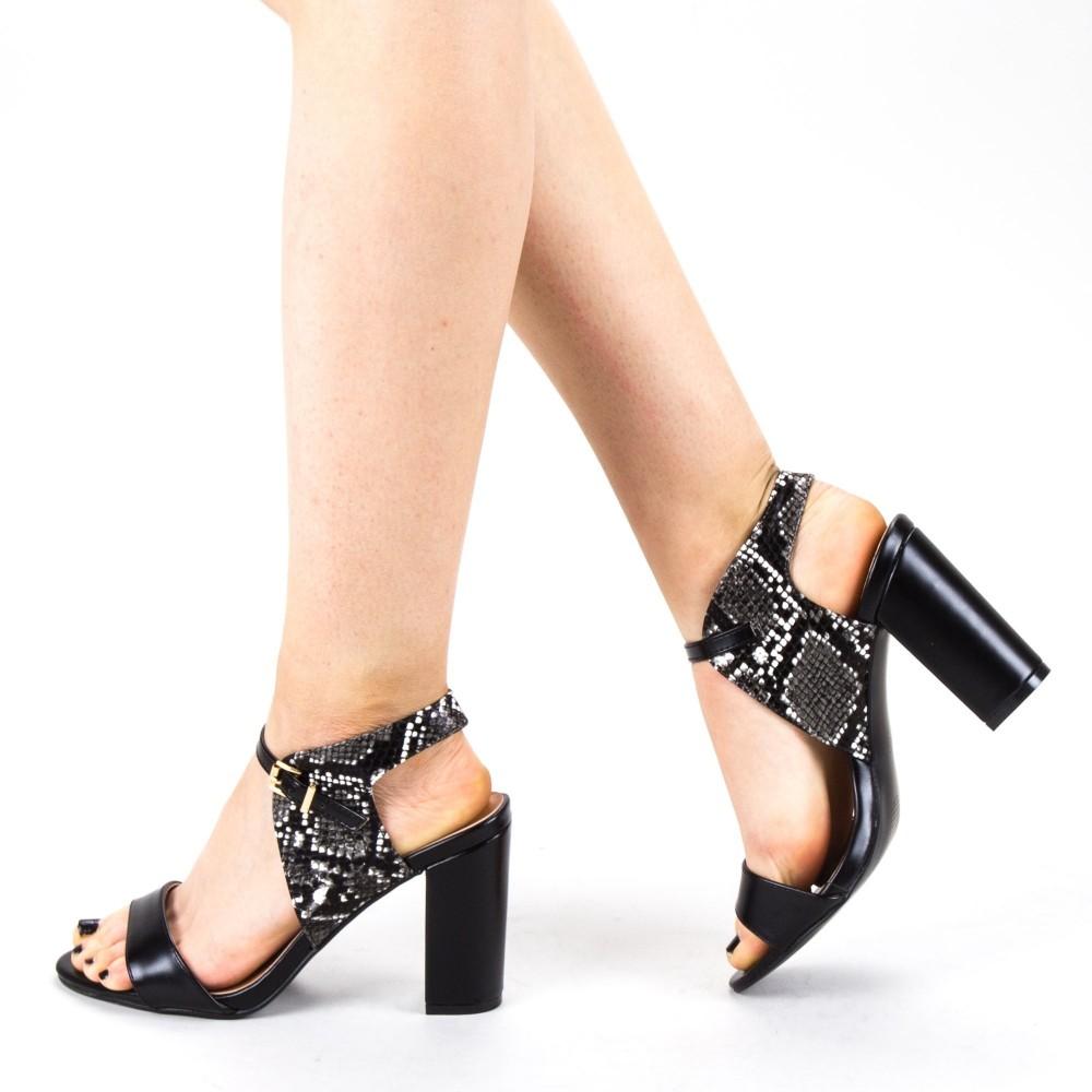 Sandale Dama cu Toc CS58 Black Mei