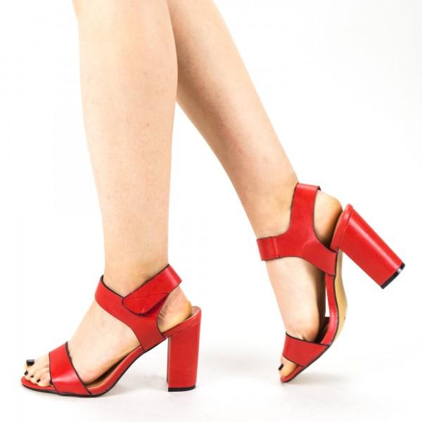 Sandale Dama cu Toc CS56 Red Mei