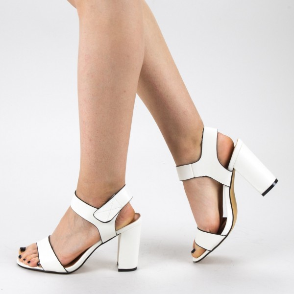Sandale Dama cu Toc CS56 White Mei