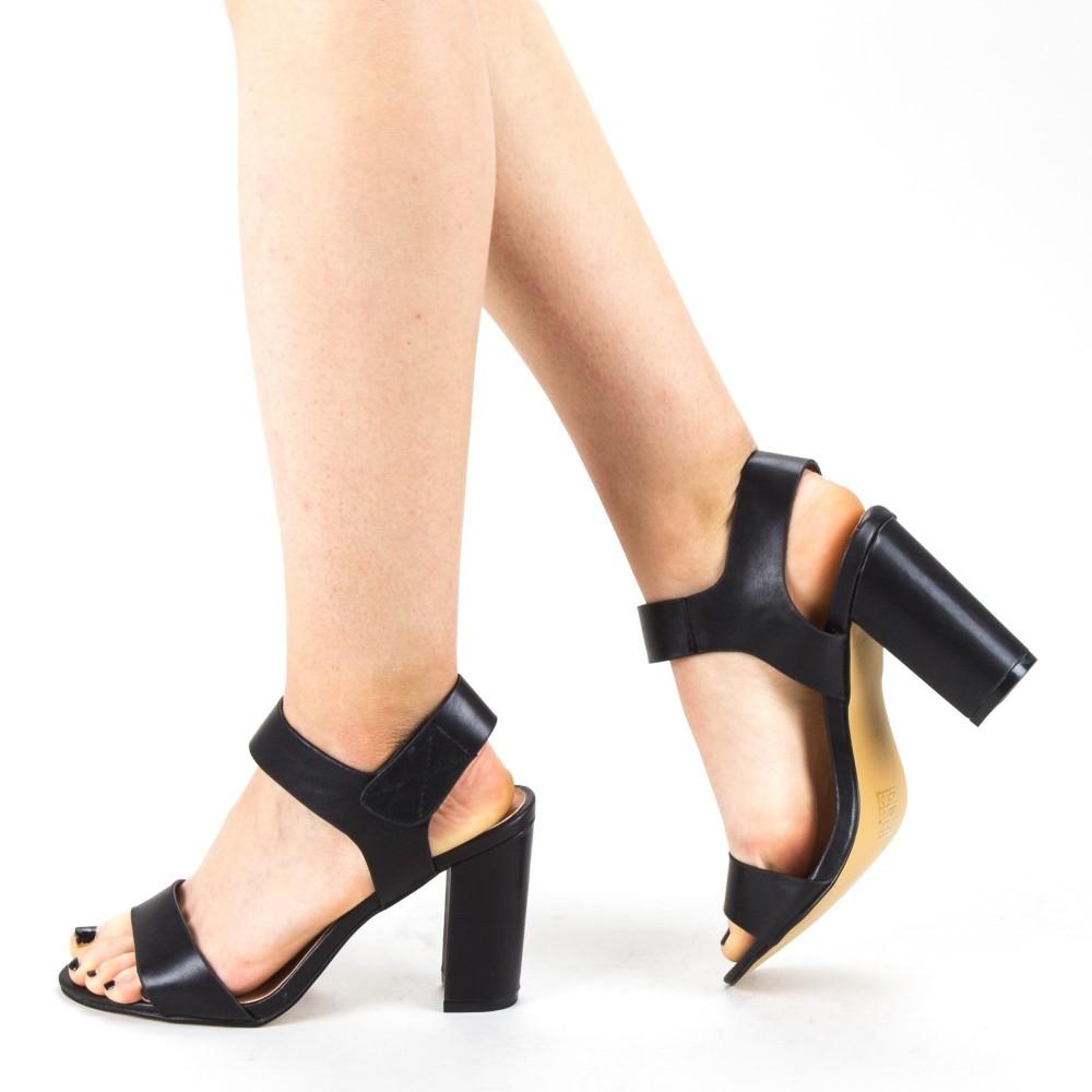Sandale Dama cu Toc CS56 Black Mei