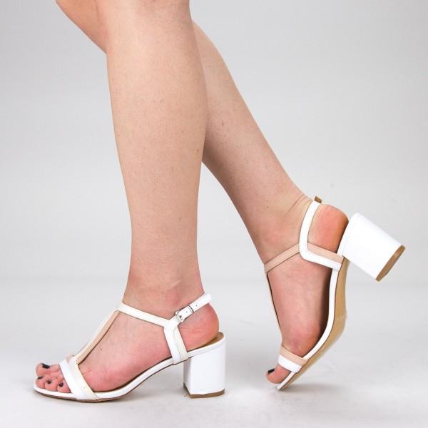 Sandale Dama cu Toc CS55 White Mei