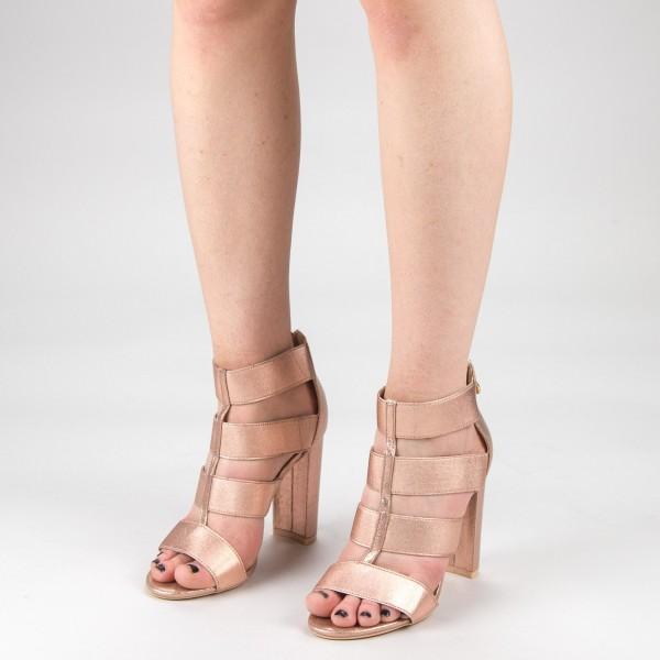 Sandale Dama cu Toc XKK170 Champagne Mei