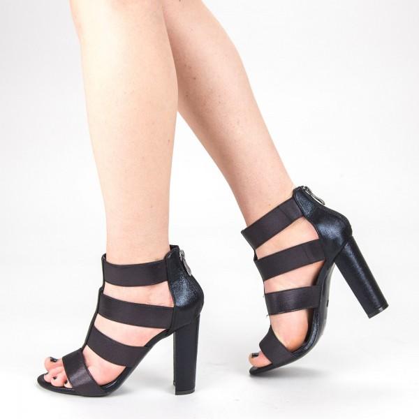 Sandale Dama cu Toc XKK170 Black Mei