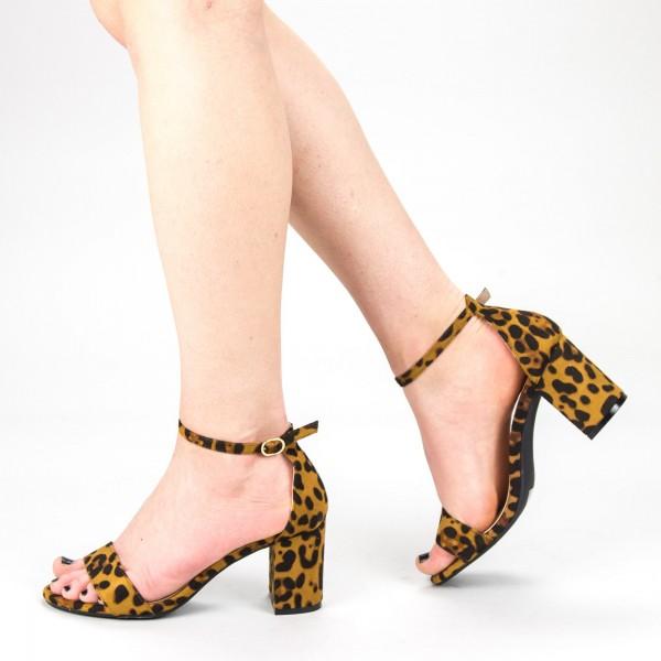 Sandale Dama cu Toc XKK166A Leopard Mei