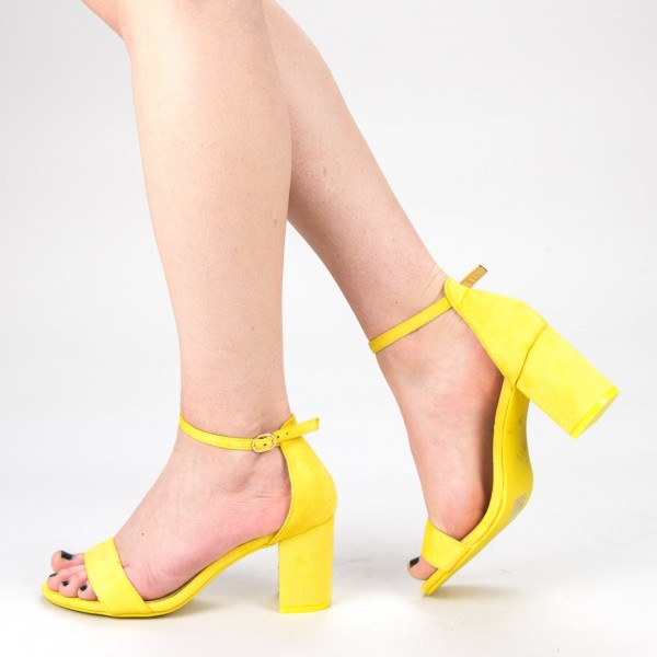 Sandale Dama cu Toc XKK166A Yellow Mei