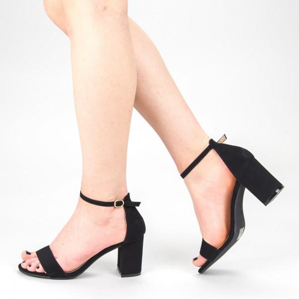 Sandale Dama cu Toc XKK166A Black Mei