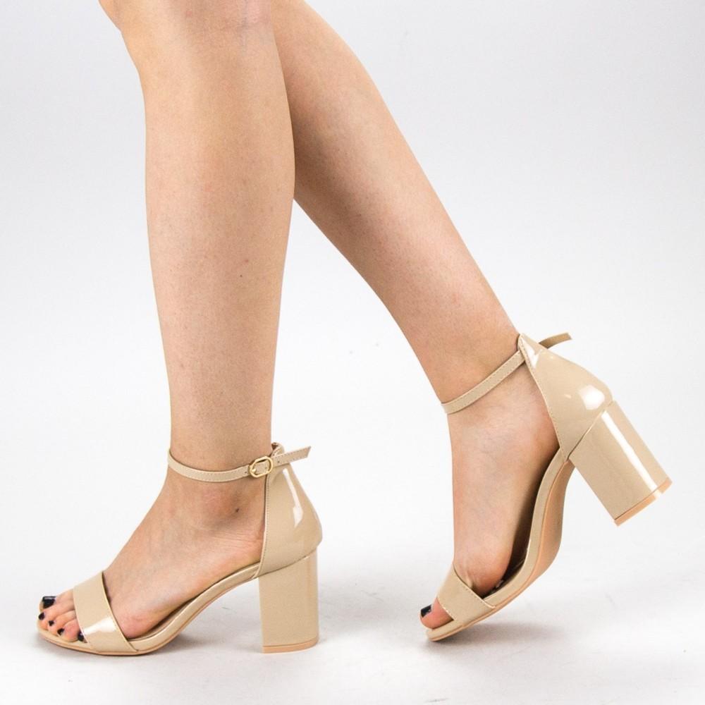 Sandale Dama cu Toc XKK166 Nude Mei