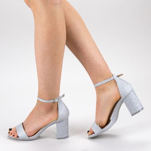 Sandale Dama cu Toc XKK166 Silver Mei