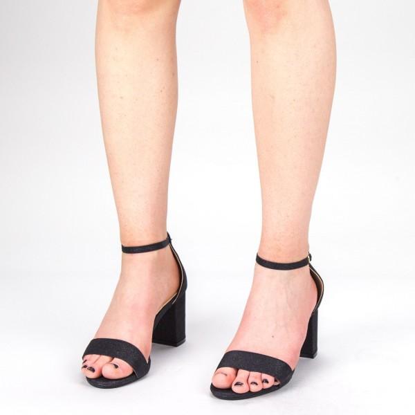 Sandale Dama cu Toc XKK166 Black Mei