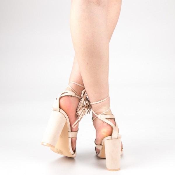 Sandale Dama cu Toc XKK162 Nude Mei