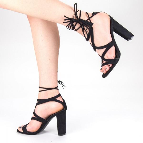 Sandale Dama cu Toc XKK162 Black Mei