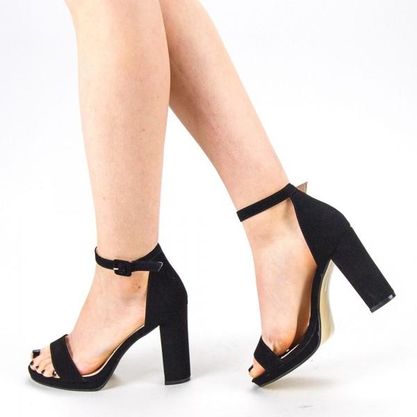 Sandale Dama cu Toc WT68 SD Black Mei