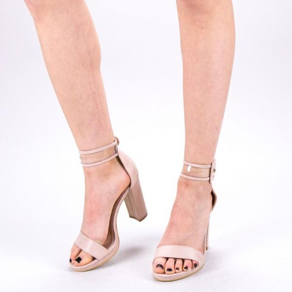 Sandale Dama cu Toc WT67 SD Beige Mei