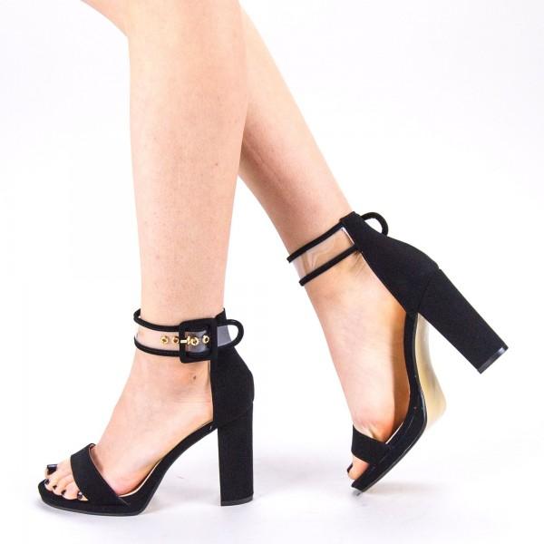 Sandale Dama cu Toc WT67 SD Black Mei