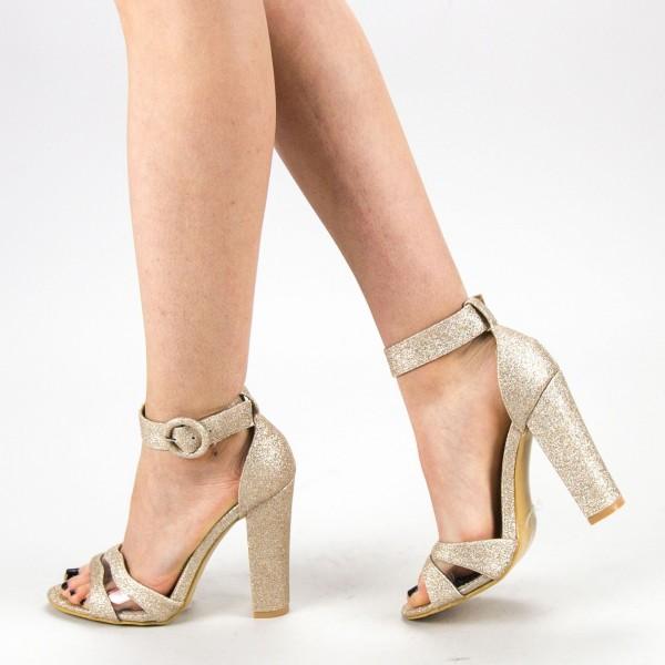 Sandale Dama cu Toc GE30A Gold Mei