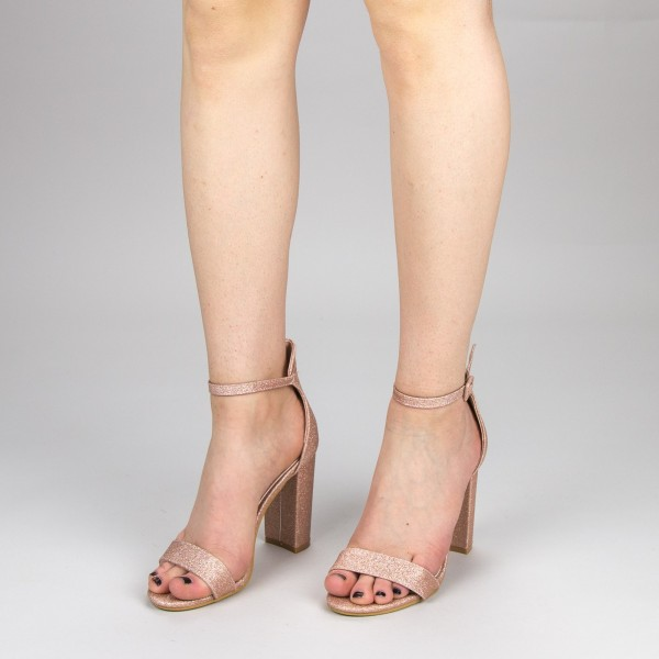 Sandale Dama cu Toc GE29A Gold Mei