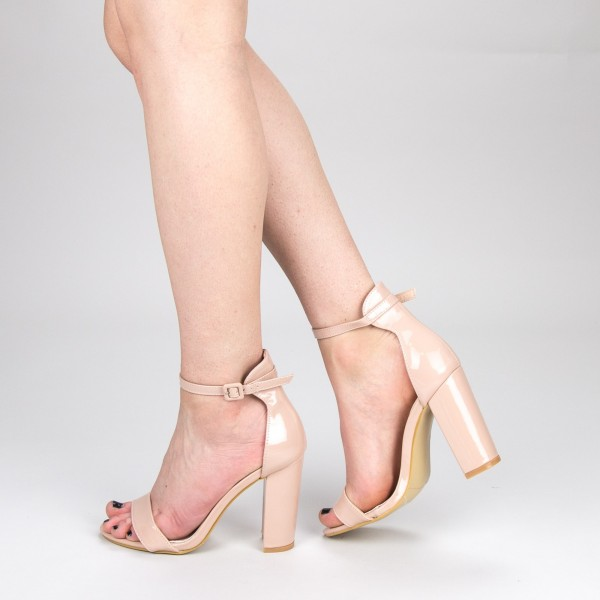 Sandale Dama cu Toc GE29 Beige Mei