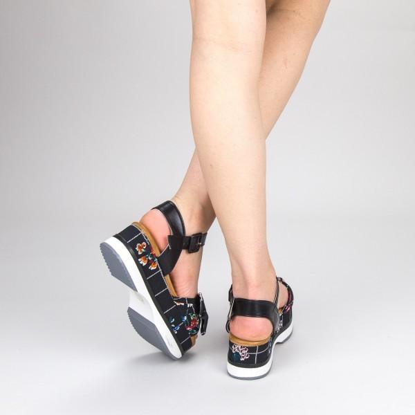 Sandale Dama cu Toc si Platforma GZXY5 Black Mei