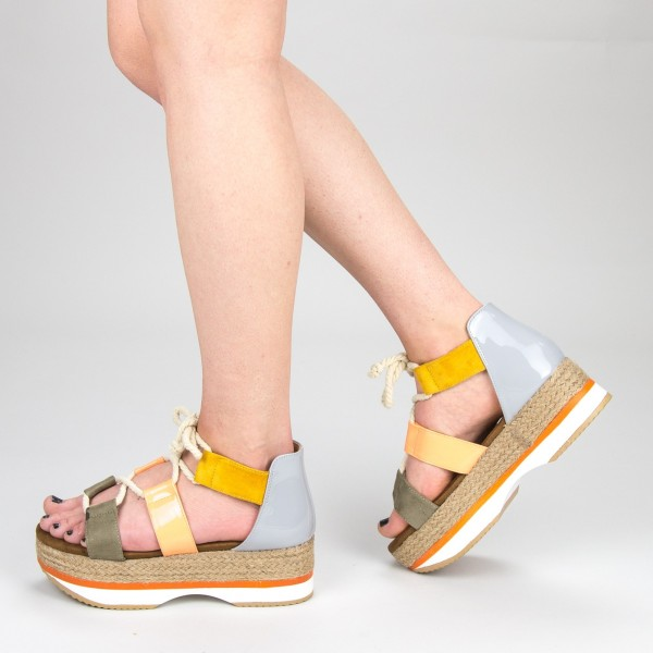 Sandale Dama cu Toc si Platforma GZXY2 Green Mei