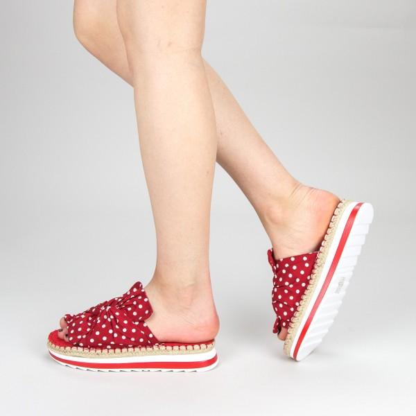 Papuci Dama cu Platforma YFF1 Pink Mei