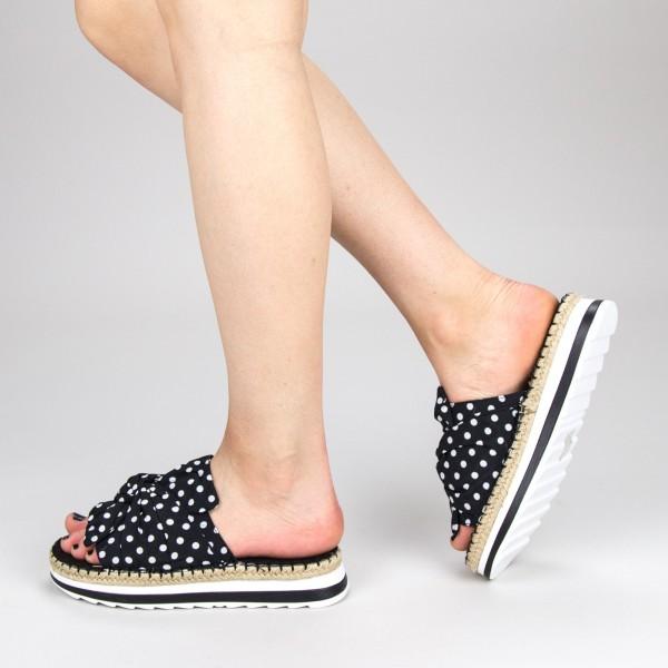 Papuci Dama cu Platforma YFF1 Black Mei
