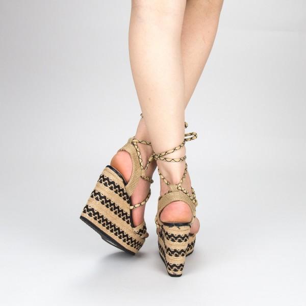 Sandale Dama cu Toc si Platforma FS8 Black Mei