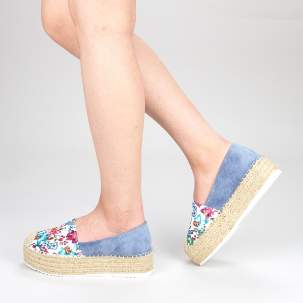 Pantofi Casual Dama cu Platforma FS6 Blue Mei