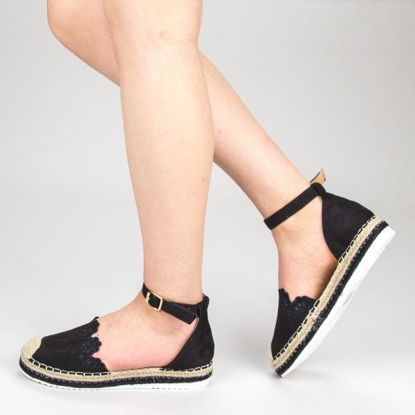 Pantofi Casual Dama cu Platforma FS5 Black Mei
