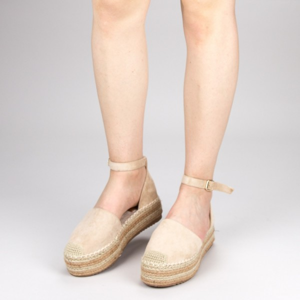 Pantofi Casual Dama cu Platforma FS3 Beige Mei