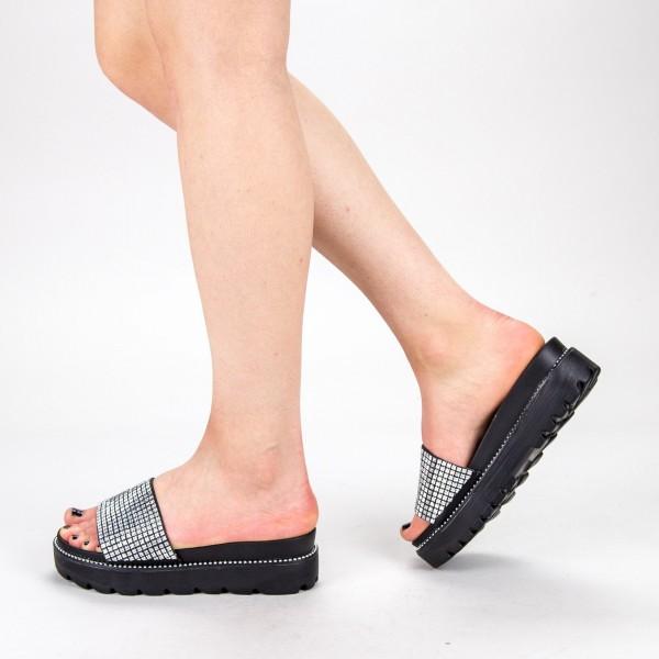 Papuci Dama cu Platforma TG9 Silver Mei