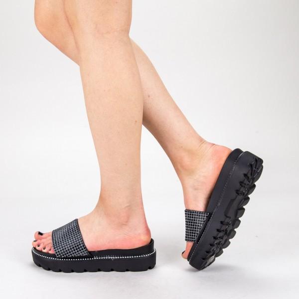 Papuci Dama cu Platforma TG9 Black Mei
