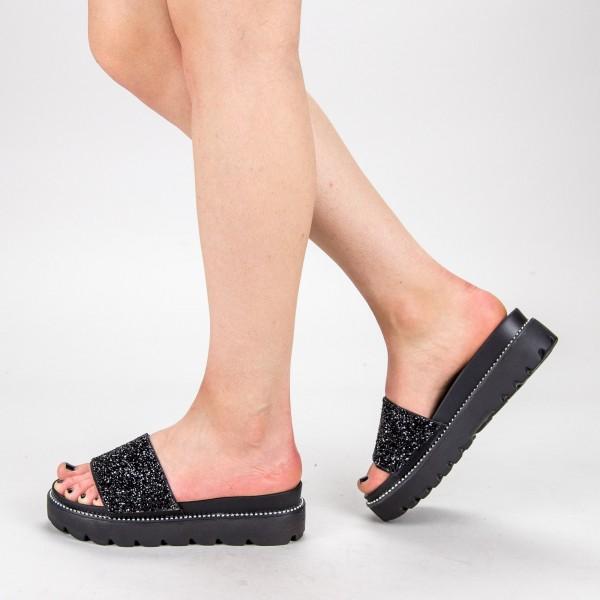 Papuci Dama cu Platforma TG7 Black Mei