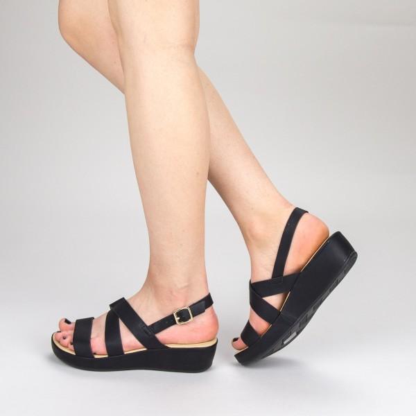 Sandale Dama cu Platforma GH116 Black Mei