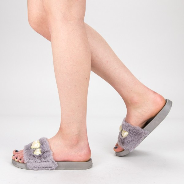 Papuci Dama 806 PP Grey Fashion