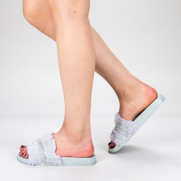 Papuci Dama 1286-2 Grey Fashion