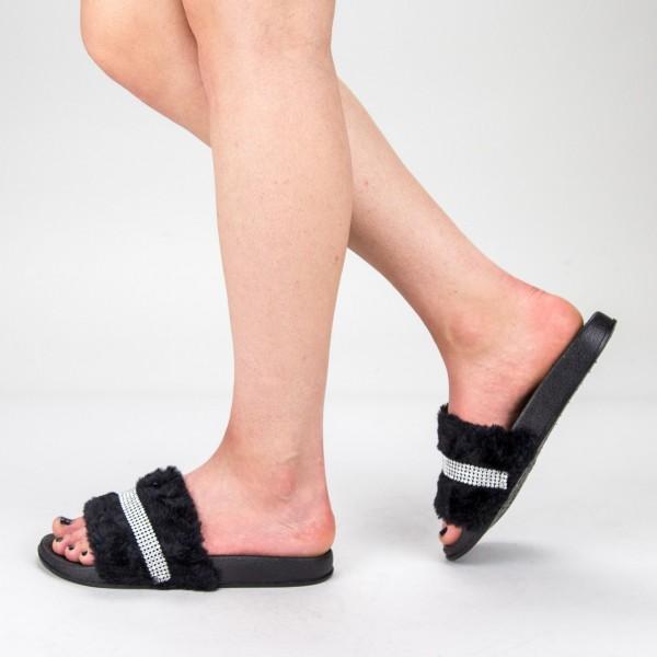 Papuci Dama 1286-2 Black Fashion