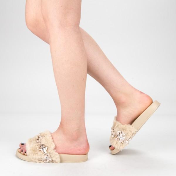 Papuci Dama 1286-1 Khaki Fashion