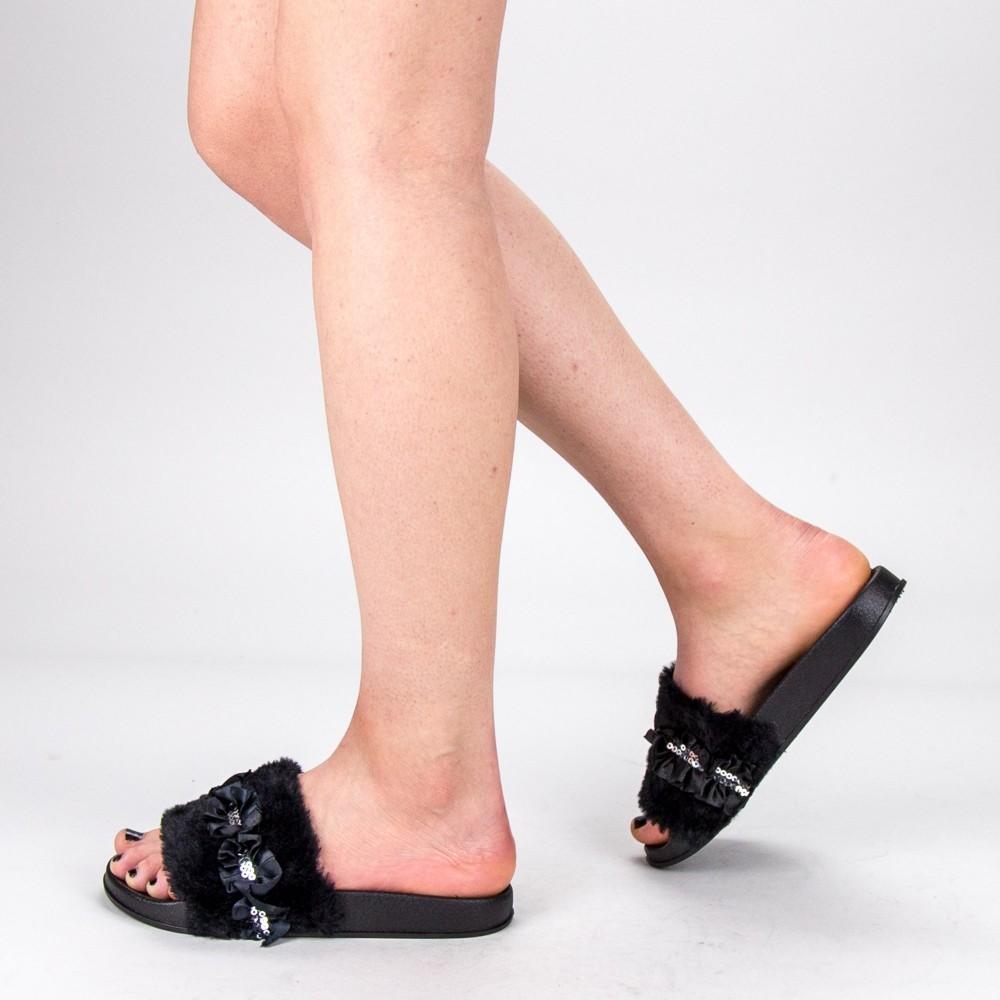 Papuci Dama 1286-1 Black Fashion