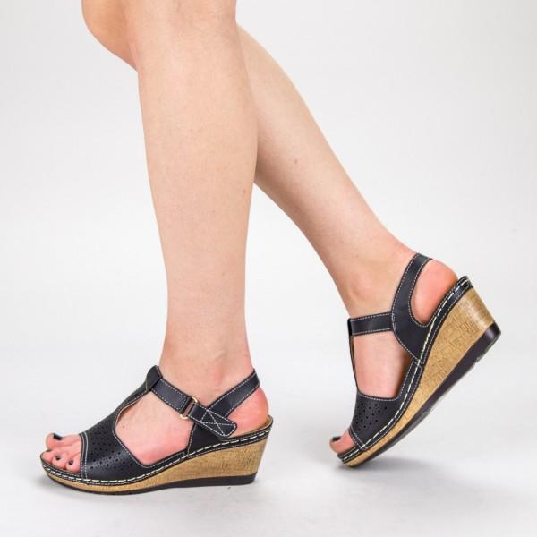 Sandale dama cu Toc F78-1 Black Alogo