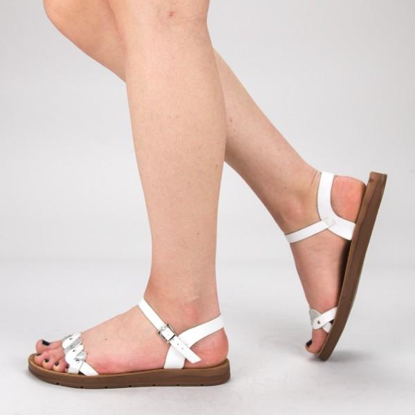 Sandale Dama WS102 White Mei